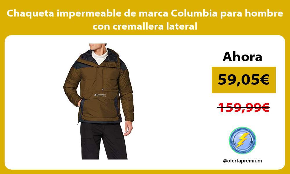 Chaqueta impermeable de marca Columbia para hombre con cremallera lateral