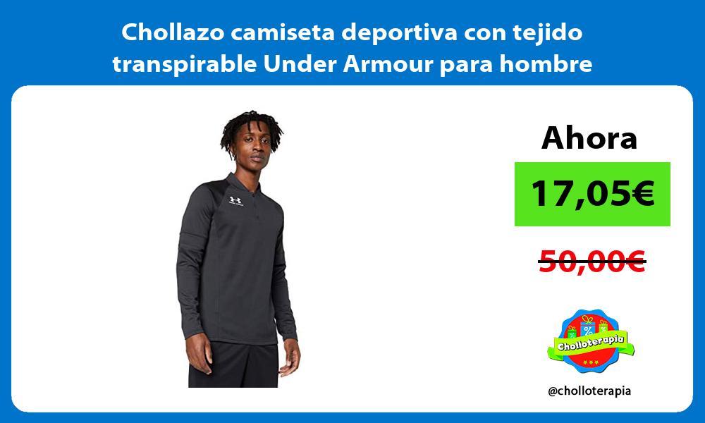 Chollazo camiseta deportiva con tejido transpirable Under Armour para hombre