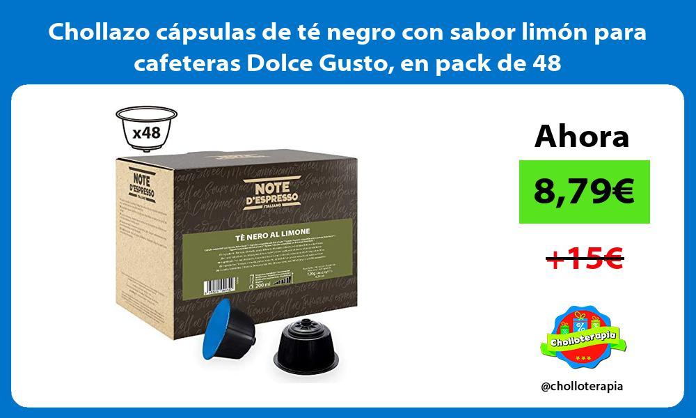 Chollazo capsulas de te negro con sabor limon para cafeteras Dolce Gusto en pack de 48