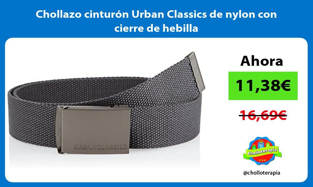 Chollazo cinturon Urban Classics de nylon con cierre de hebilla