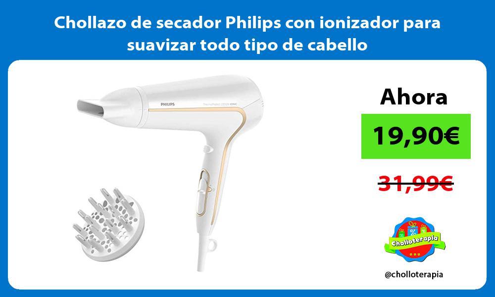 Chollazo de secador Philips con ionizador para suavizar todo tipo de cabello