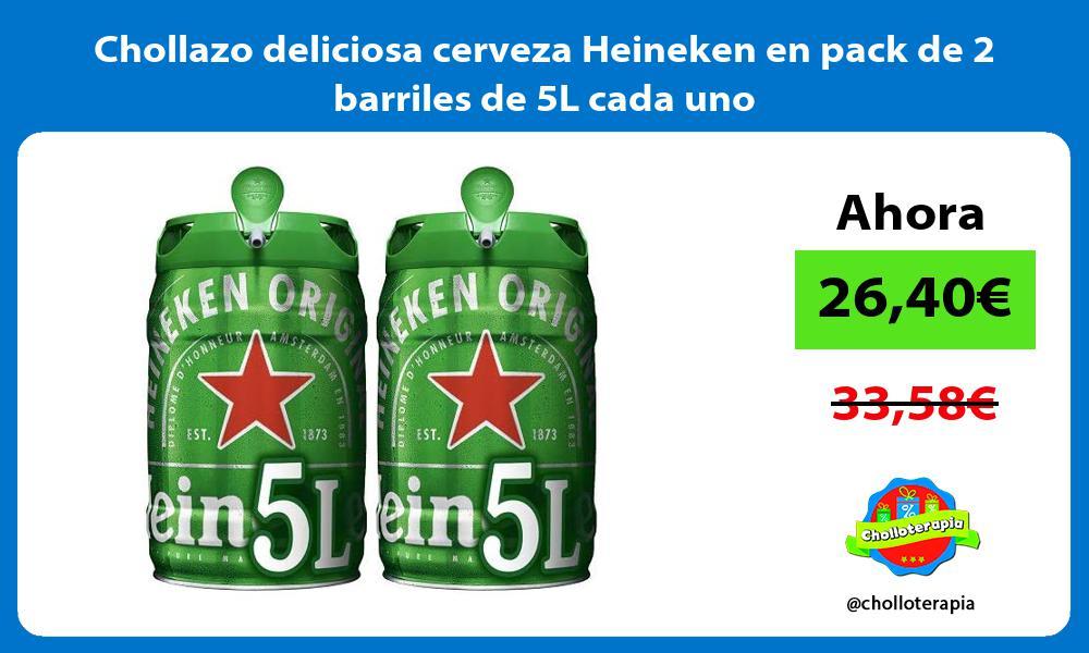 Chollazo deliciosa cerveza Heineken en pack de 2 barriles de 5L cada uno