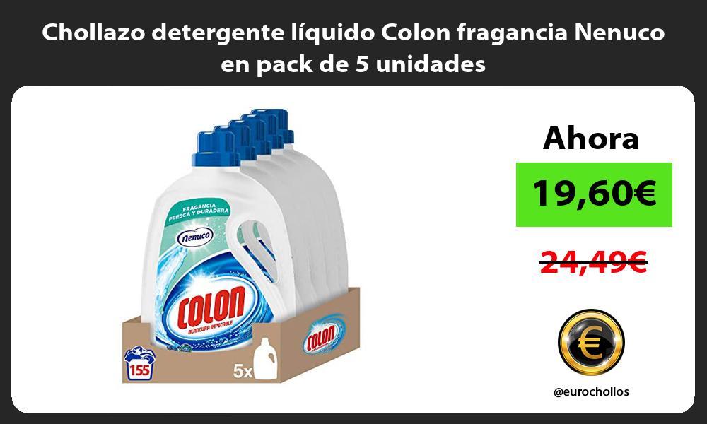 Chollazo detergente liquido Colon fragancia Nenuco en pack de 5 unidades