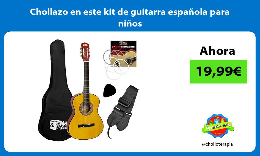 Chollazo en este kit de guitarra española para niños