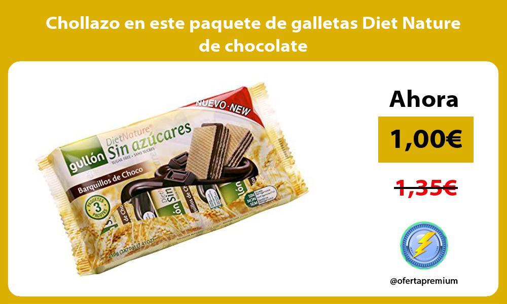 Chollazo en este paquete de galletas Diet Nature de chocolate