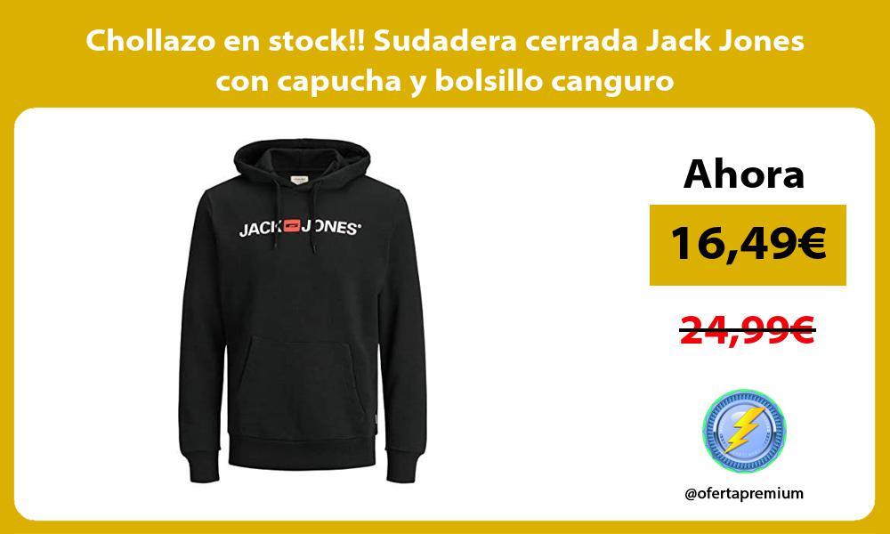 Chollazo en stock Sudadera cerrada Jack Jones con capucha y bolsillo canguro