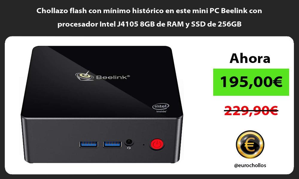 Chollazo flash con minimo historico en este mini PC Beelink con procesador Intel J4105 8GB de RAM y SSD de 256GB