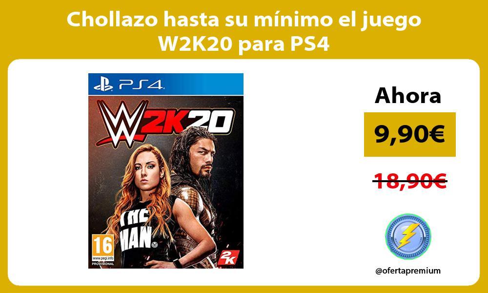 Chollazo hasta su minimo el juego W2K20 para PS4