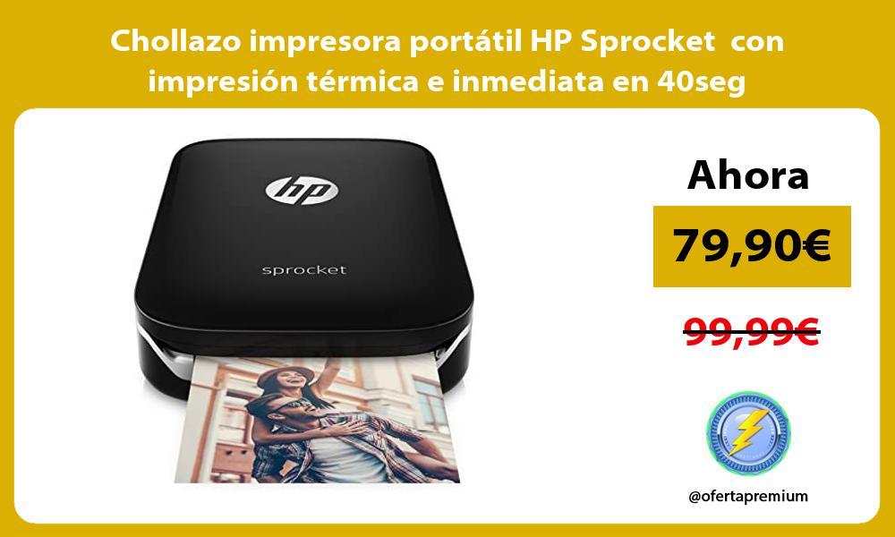 Chollazo impresora portatil HP Sprocket con impresion termica e inmediata en 40seg