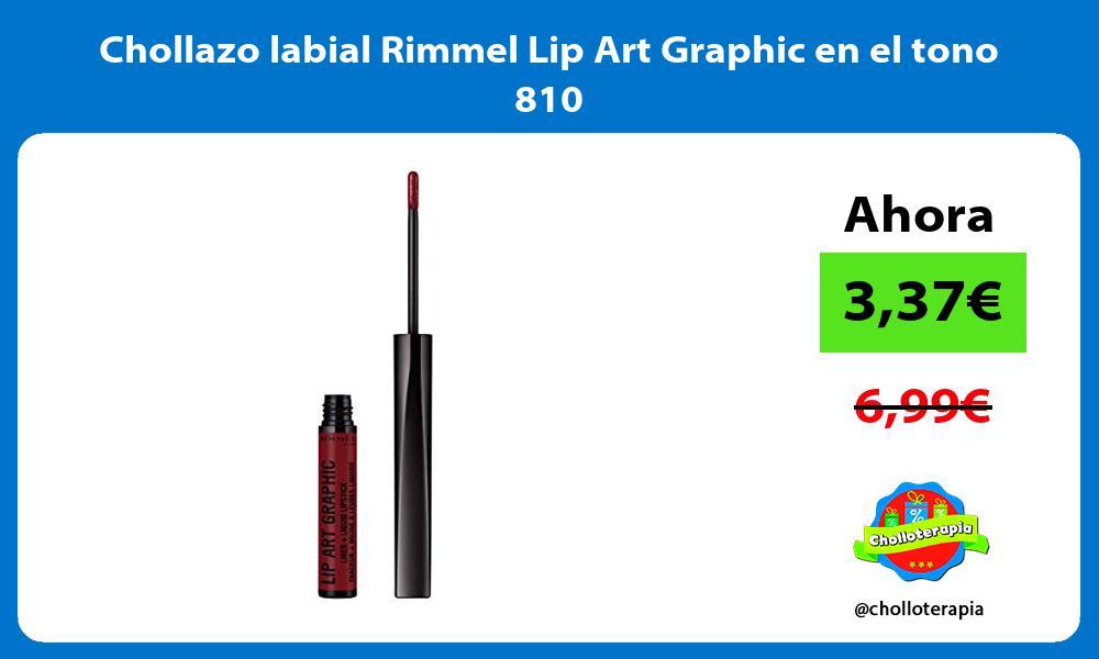 Chollazo labial Rimmel Lip Art Graphic en el tono 810