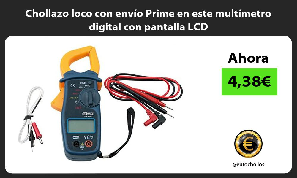 Chollazo loco con envio Prime en este multimetro digital con pantalla LCD