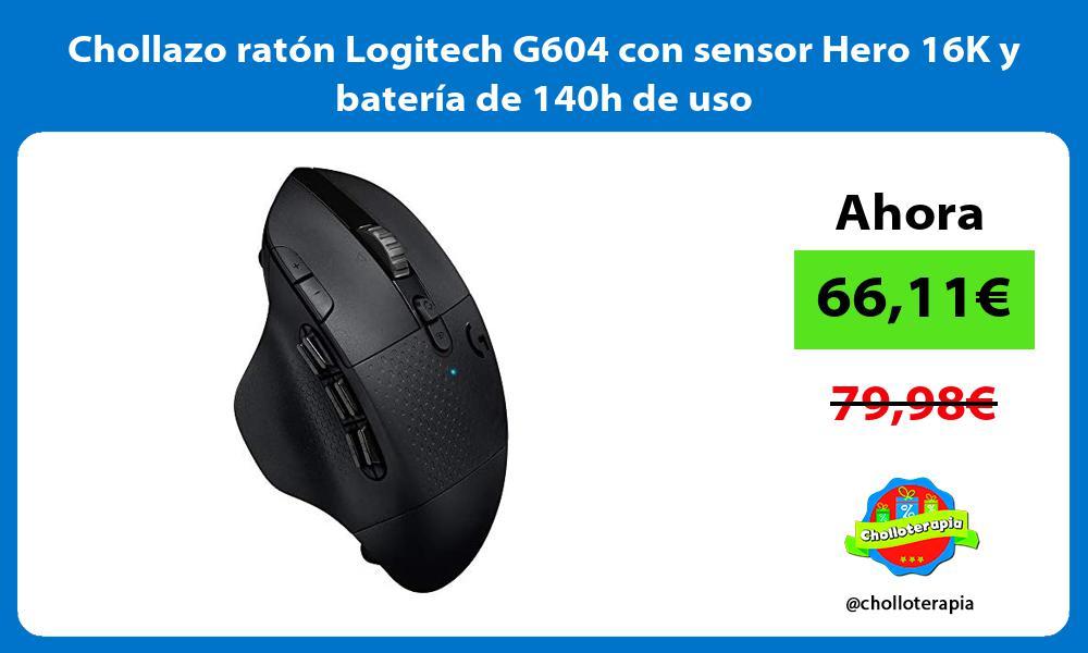 Chollazo ratón Logitech G604 con sensor Hero 16K y batería de 140h de uso