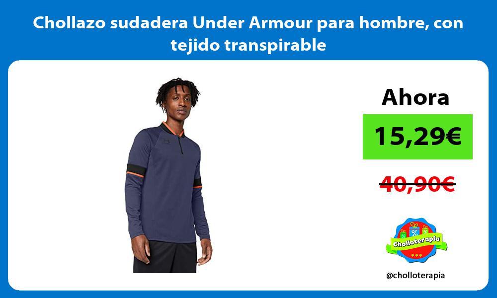 Chollazo sudadera Under Armour para hombre con tejido transpirable