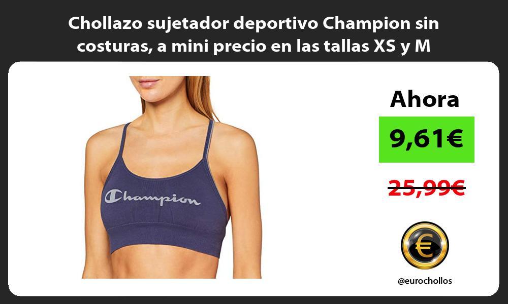 Chollazo sujetador deportivo Champion sin costuras a mini precio en las tallas XS y M