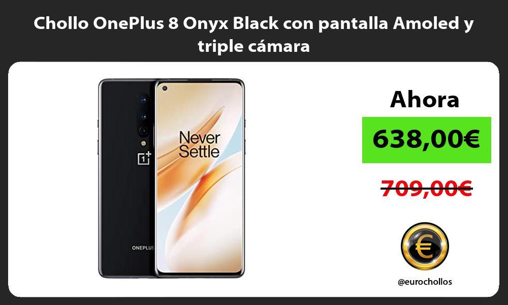 Chollo OnePlus 8 Onyx Black con pantalla Amoled y triple cámara