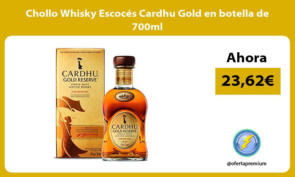 Chollo Whisky Escoces Cardhu Gold en botella de 700ml
