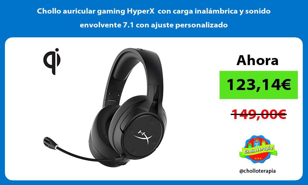 Chollo auricular gaming HyperX con carga inalámbrica y sonido envolvente 7 1 con ajuste personalizado