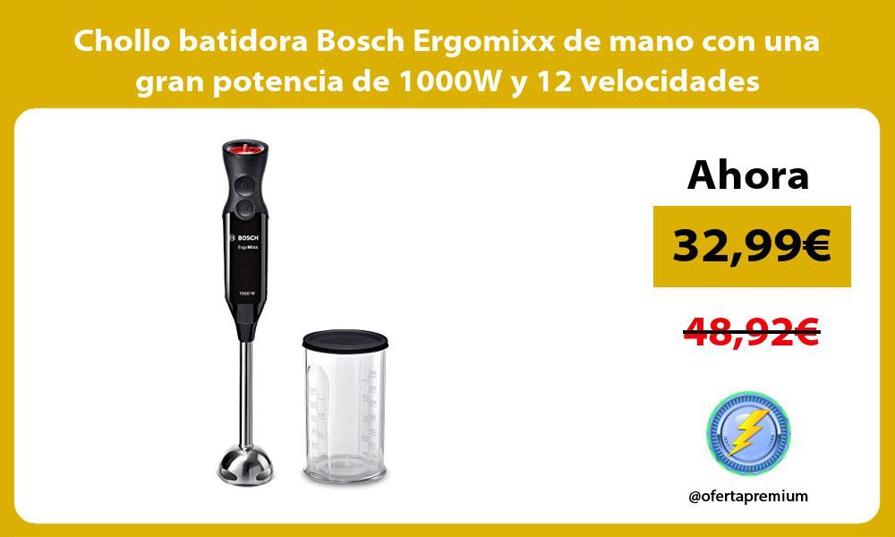Chollo batidora Bosch Ergomixx de mano con una gran potencia de 1000W y 12 velocidades