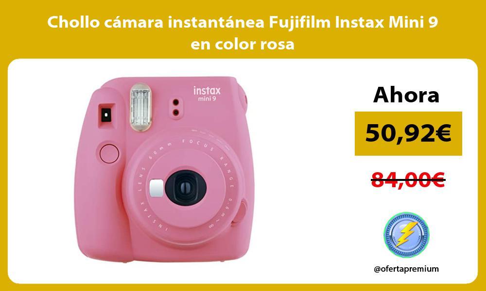 Chollo camara instantanea Fujifilm Instax Mini 9 en color rosa