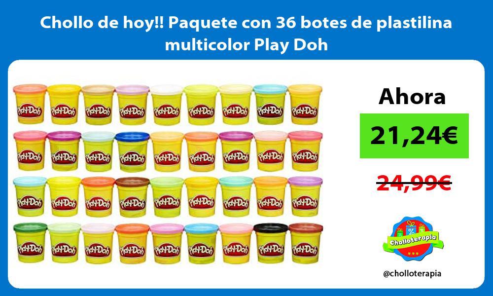 Chollo de hoy Paquete con 36 botes de plastilina multicolor Play Doh