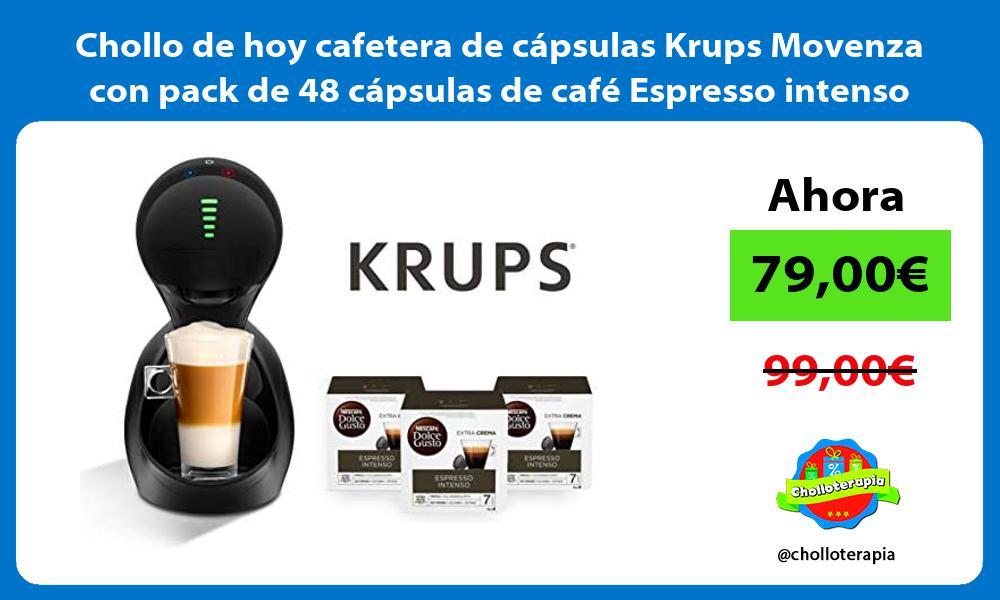 Chollo de hoy cafetera de capsulas Krups Movenza con pack de 48 capsulas de cafe Espresso intenso