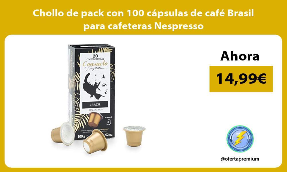 Chollo de pack con 100 capsulas de cafe Brasil para cafeteras Nespresso