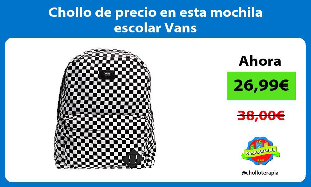 Chollo de precio en esta mochila escolar Vans