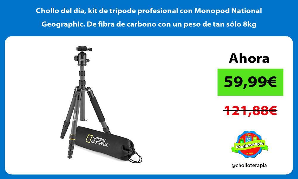 Chollo del dia kit de tripode profesional con Monopod National Geographic De fibra de carbono con un peso de tan solo 8kg