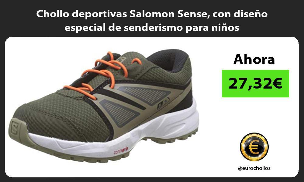Chollo deportivas Salomon Sense con diseno especial de senderismo para ninos