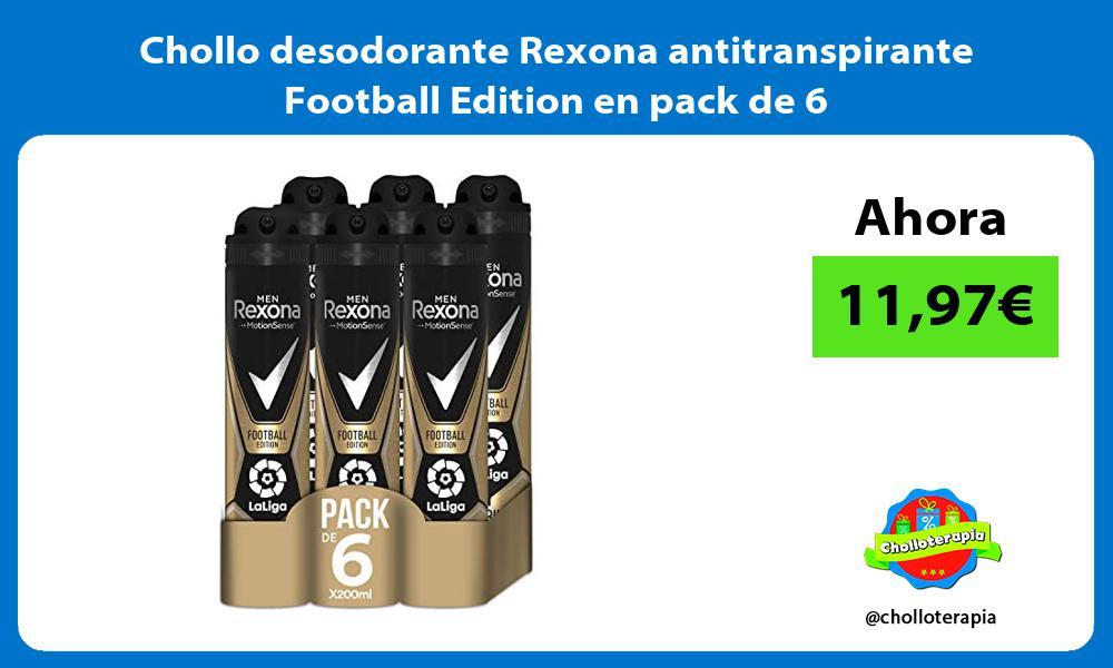 Chollo desodorante Rexona antitranspirante Football Edition en pack de 6