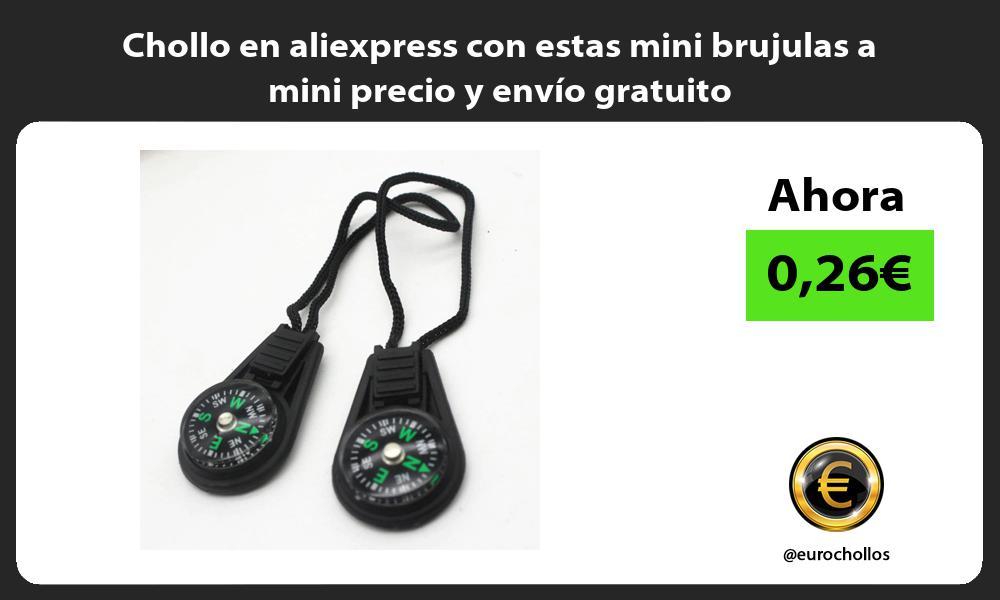 Chollo en aliexpress con estas mini brujulas a mini precio y envio gratuito