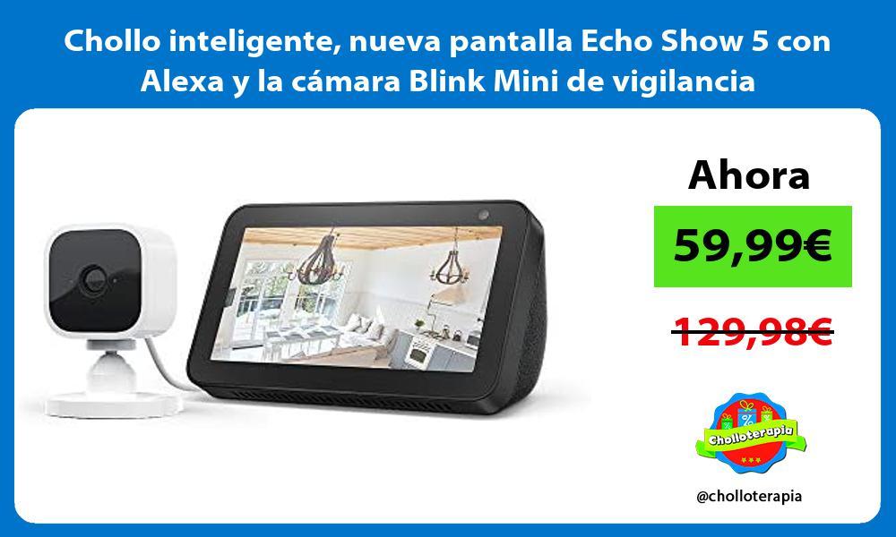 Chollo inteligente nueva pantalla Echo Show 5 con Alexa y la camara Blink Mini de vigilancia
