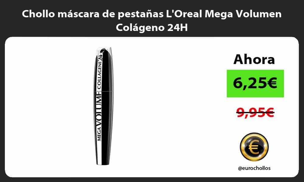 Chollo máscara de pestañas LOreal Mega Volumen Colágeno 24H