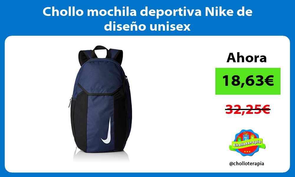 Chollo mochila deportiva Nike de diseno unisex