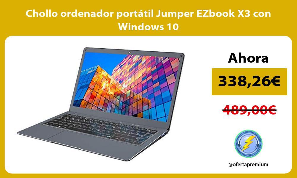 Chollo ordenador portatil Jumper EZbook X3 con Windows 10