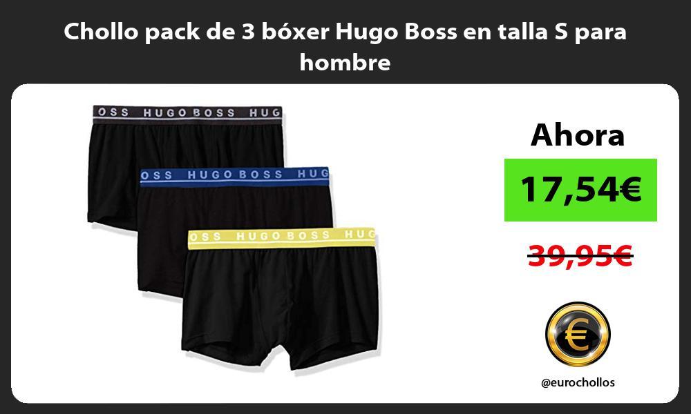 Chollo pack de 3 boxer Hugo Boss en talla S para hombre