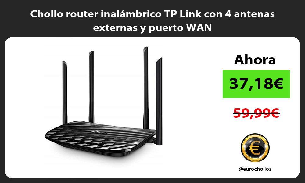 Chollo router inalámbrico TP Link con 4 antenas externas y puerto WAN