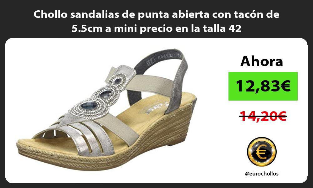 Chollo sandalias de punta abierta con tacon de 5 5cm a mini precio en la talla 42