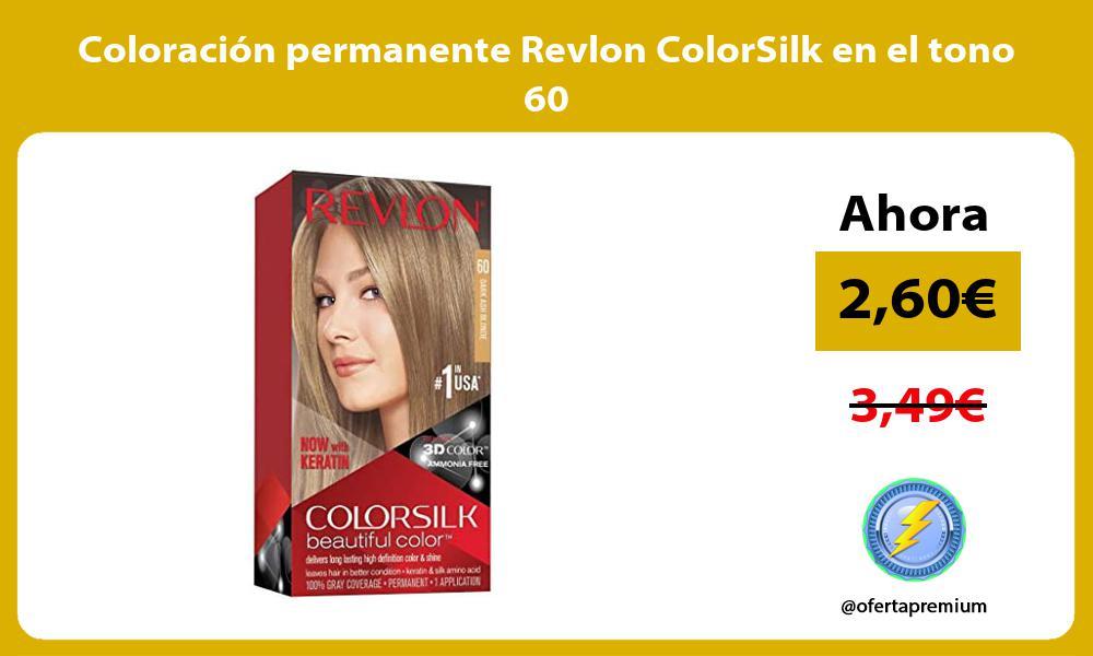 Coloración permanente Revlon ColorSilk en el tono 60
