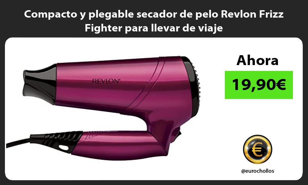 Compacto y plegable secador de pelo Revlon Frizz Fighter para llevar de viaje