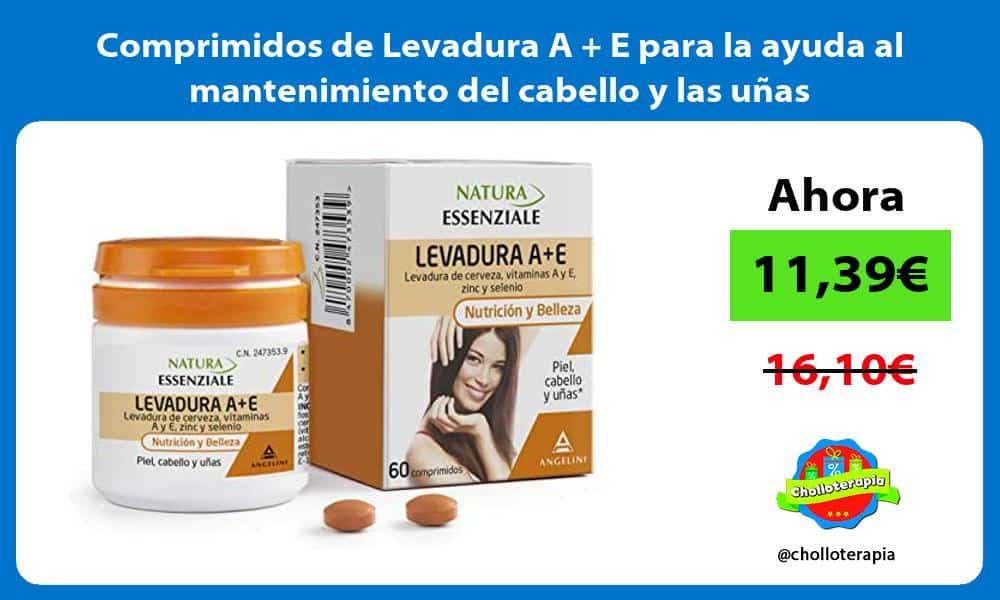 Comprimidos de Levadura A E para la ayuda al mantenimiento del cabello y las uñas
