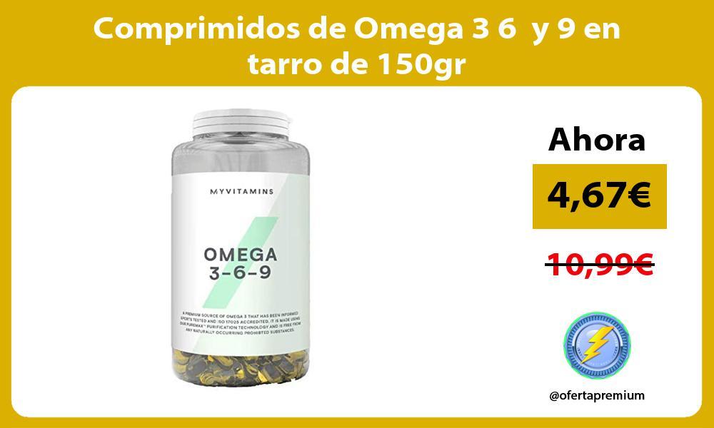Comprimidos de Omega 3 6 y 9 en tarro de 150gr