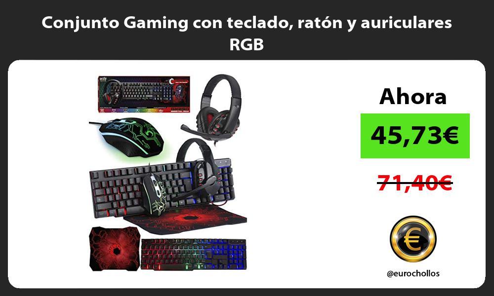Conjunto Gaming con teclado raton y auriculares RGB