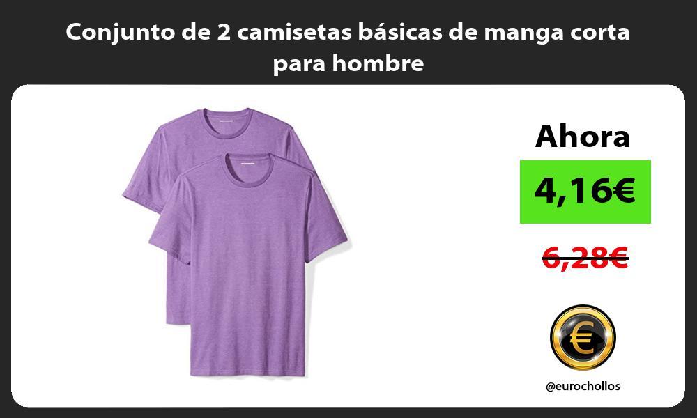 Conjunto de 2 camisetas básicas de manga corta para hombre