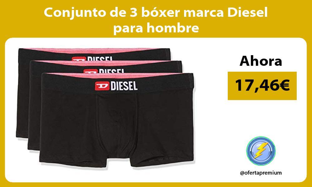 Conjunto de 3 boxer marca Diesel para hombre
