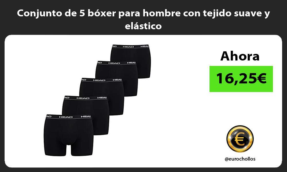 Conjunto de 5 boxer para hombre con tejido suave y elastico