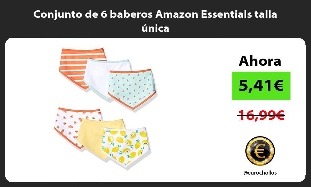 Conjunto de 6 baberos Amazon Essentials talla unica
