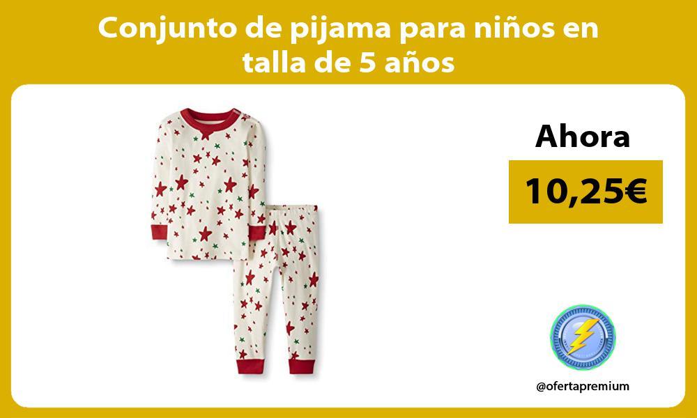 Conjunto de pijama para ninos en talla de 5 anos