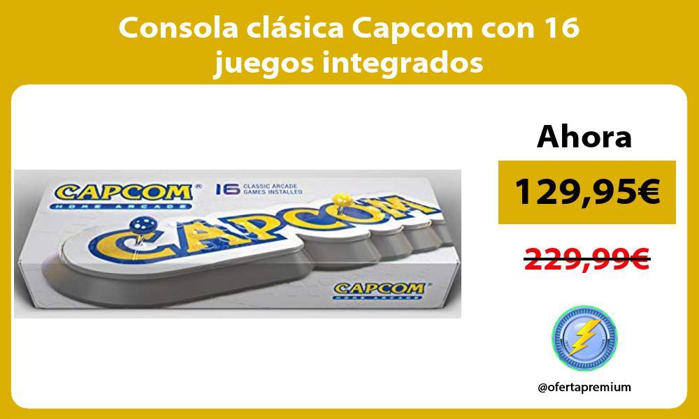Consola clásica Capcom con 16 juegos integrados