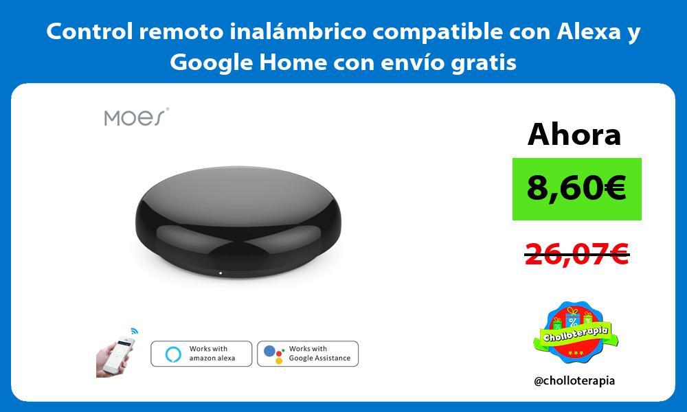 Control remoto inalámbrico compatible con Alexa y Google Home con envío gratis